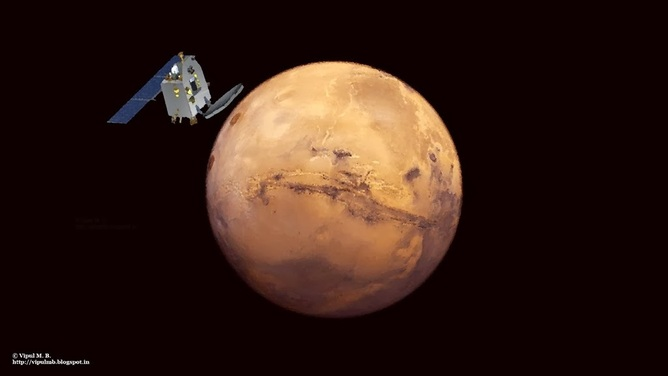 Mangalyaan Mars Orbiter Mission MOM. (Vipal M.B.)