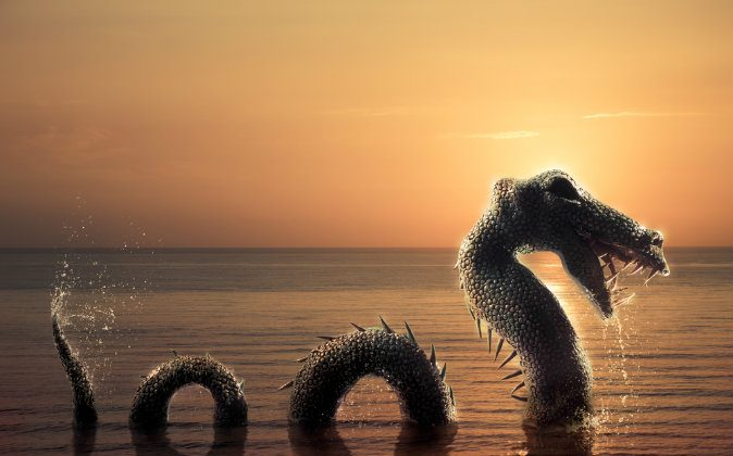 Drawing of the Loch Ness Monster. (Shutterstock*)