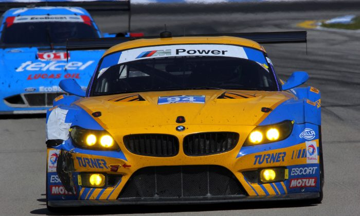 Dane Cameron has a decent shot at both the race win and the GTD class title in the #94 Tunrer Motorsports BMW Z4 GTE. (Chris Jasurek/Epoch Times)