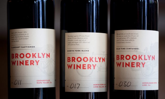 Wine from the Brooklyn Winery. (Rima Brindamour)
