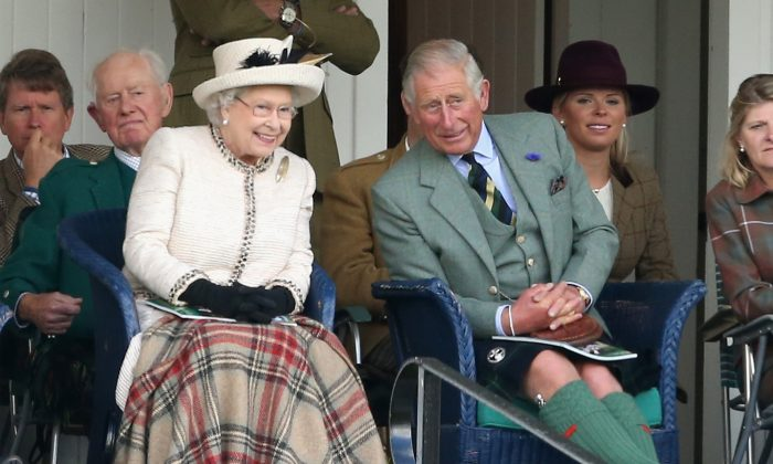 Prince Charles may try to become Regent soon, according to the latest reports. Here he sits with Queen Elizabeth at the Braemar Highland Games in Scotland in September 2014. (Chris Jackson/Getty Images)