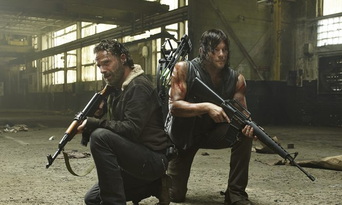 Rick and Daryl in the Walking Dead season 5 premiere. (AMC)