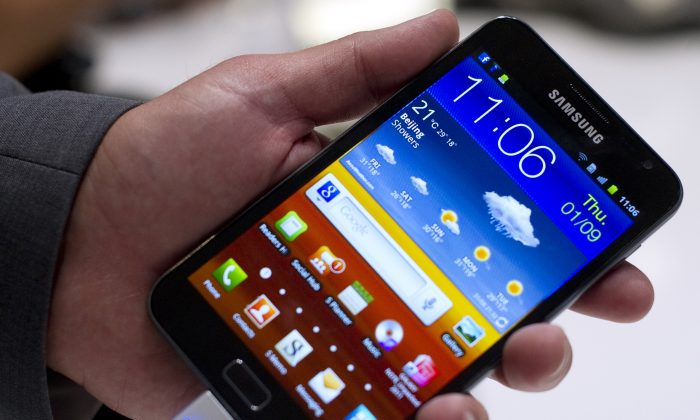 A Samsung 'Galaxy Note' (Odd Andersen/AFP/Getty Images)