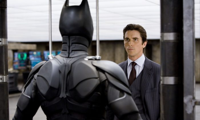 "Christian Bale stars as Bruce Wayne in ""The Dark Knight."" (AP Photo/Warner Bros. Pictures, Stephen Vaughan)"