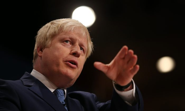 Mayor of London Boris Johnson addresses the Conservative party conference on Sept. 30, 2014 in Birmingham, England.
