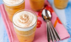 Spiced Pumpkin Mousse With Coconut Whipped Cream