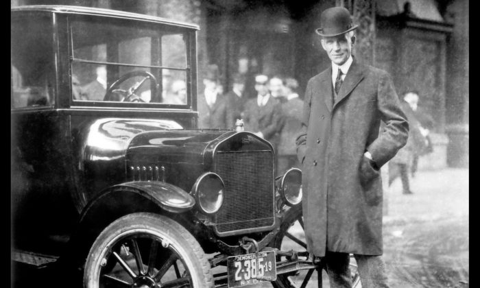 Ford with Model T. Author: Ford Motor Company