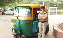 New Delhi's Only Female Three-Wheeled Taxi Driver