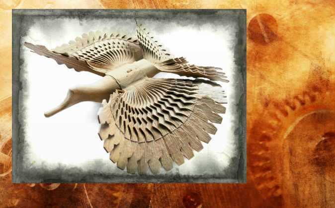 File photo of a wooden bird  (Shutterstock*, effects added by Epoch Times)