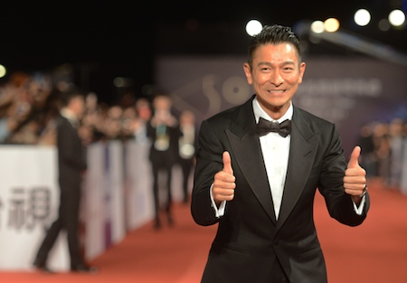 Hong Kong actor Andy Lau arrives ahead of the Golden Horse Film Awards in Taipei, on November 23, 2013. Stars from China, Hong Kong, Singapore and Taiwan are gathering in Taipei for this year's Golden Horse Film Awards, dubbed the 'Oscars' of Chinese-language cinema. (Sam Yeh/AFP/Getty Images)