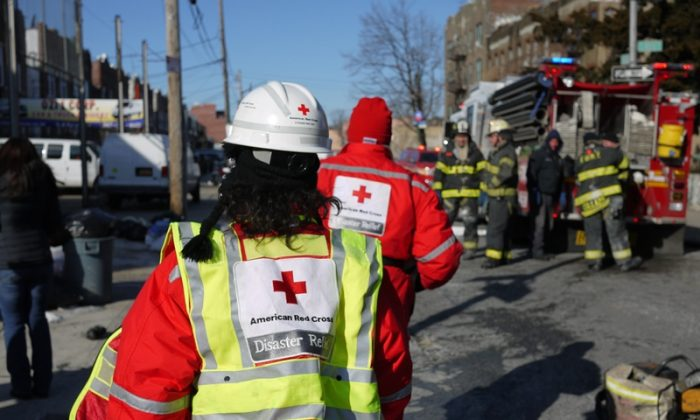 A fire on 36th Street in Brooklyn on Jan. 7, 2014. (American Red Cross Greater New York Region)