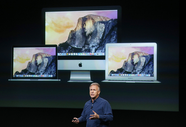 Apple Senior Vice President of Worldwide Marketing Phil Schiller announces the new iMac with 5k retina display during a special event  in Cupertino, Calif. on October 16, 2014. (Justin Sullivan/Getty Images)