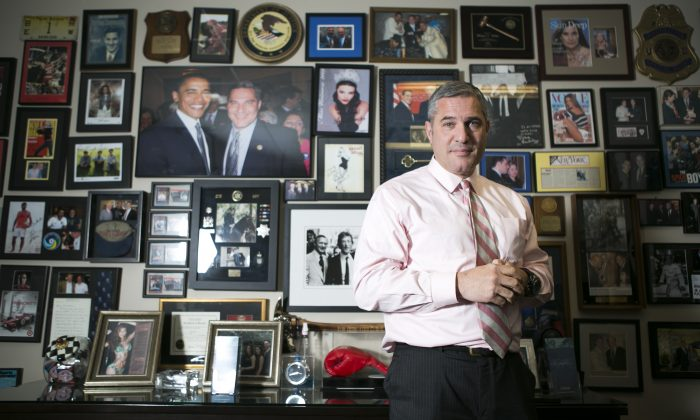 Michael Wildes, managing partner at WILDES & WEINBERG, PC, at his office in Manhattan, New York, Sept. 23, 2014. (Samira Bouaou/Epoch Times)