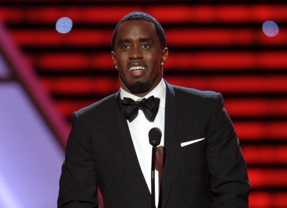 "Sean ""Diddy"" Combs speaks on stage at the ESPY Awards in Los Angeles.     (Photo by John Shearer/Invision/AP, File)"