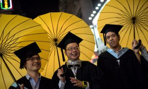Hong Kong University Graduation Ceremony Was Filled With Umbrellas