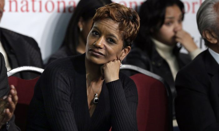 Rachel Noerdlinger attends a meeting at National Action Network headquarters in New York on Jan. 18, 2014. (AP Photo/Richard Drew)