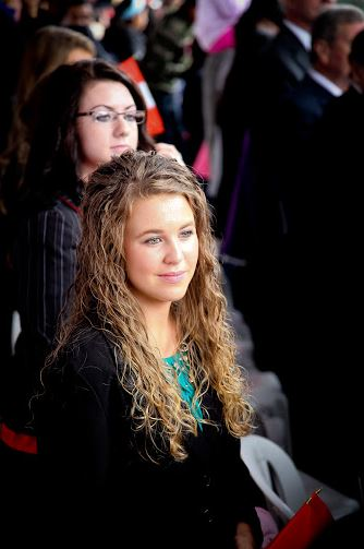 Jana watches a military parade in Peru in this 2011 file photo. (Duggar Family)