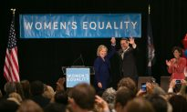 Clinton Shows Support for Women's Equality Party