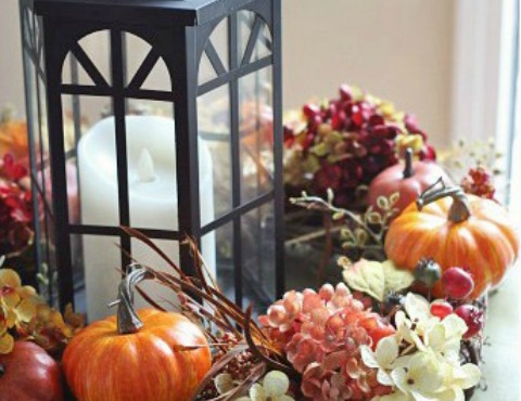 Lantern Fall Centerpiece (Hometalker Decorating Ideas Made Easy)