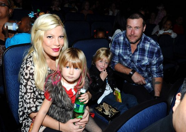 Tori Spelling, Stella McDermott, Liam McDermott and Dean McDermott attend Yo Gabba Gabba Live! at Nokia Theatre L.A. Live on November 26, 2011 in Los Angeles, California.  (Photo by Michael Buckner/Getty Images)