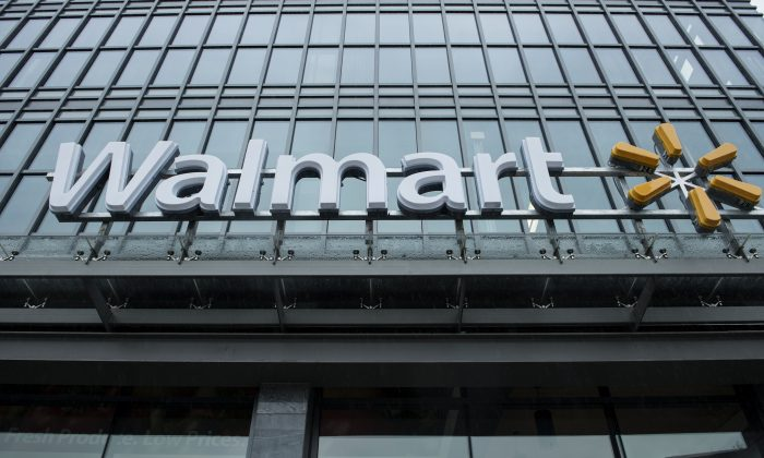 Here's the hours for Walmart, Target, Best Buy, Kohl's, Costco, Macy's, Wells Fargo, Bank of America, US Bank, and Chase Bank. A view of a Walmart in Washington, DC, on Sept. 25, 2014. (Brendan Smialowski/AFP/Getty Images)