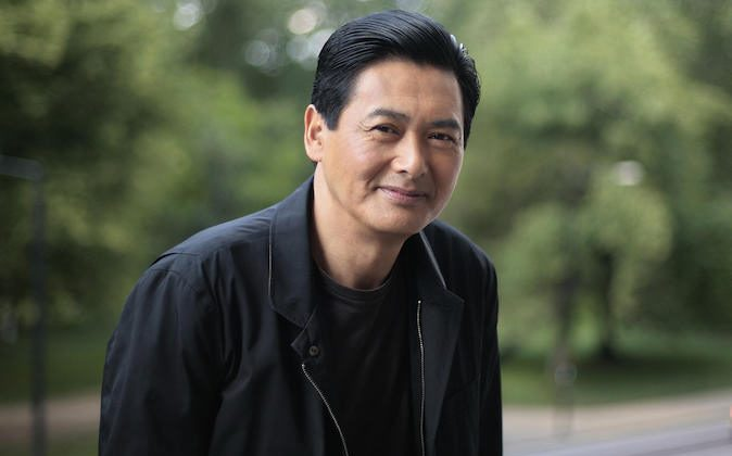 Chinese actor Chow Yun-fat poses for photographs during a photocall in London, on June 17, 2008. (Shaun Curry/AFP/Getty Images)