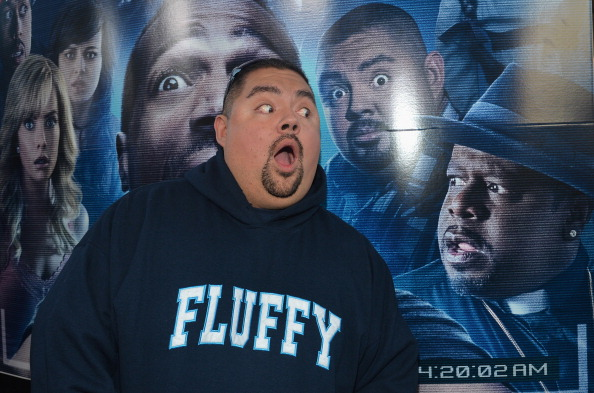 """Gabriel Iglesias arrives to the premiere of Open Road Films' """"A Haunted House 2"""" at Regal Cinemas L.A. Live on April 16, 2014 in Los Angeles, California.  (Photo by Alberto E. Rodriguez/Getty Images)"""