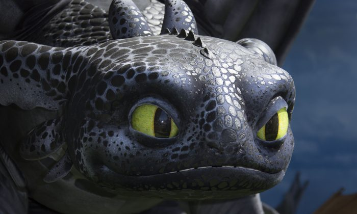 Toothless the dragon at the UK Gala Screening of How to Train Your Dragon 2 at the Vue cinema in central London, Sunday, June 22, 2014. (Photo by Joel Ryan/Invision/AP)