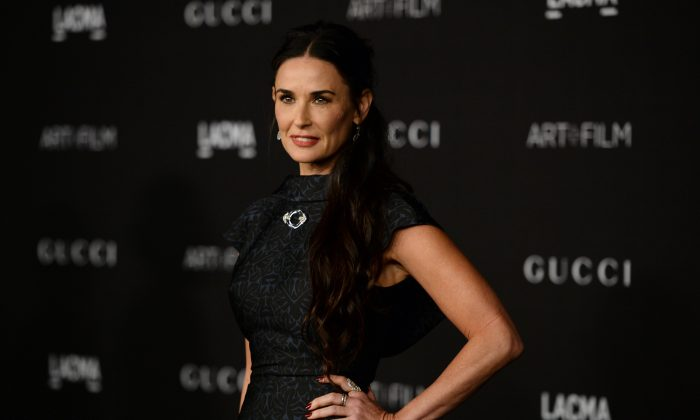 Demi Moore arrives at the LACMA Art + Film Gala at LACMA in Los Angeles on Nov. 1, 2014. (Jordan Strauss/Invision/AP)