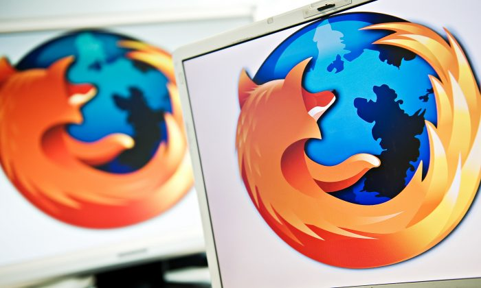 A screen displays the logo of the open-source web browser Firefox on July 31, 2009, in London, as the software edges towards it's billionth download within the next twenty four hours. (Leon Neal/AFP/Getty Images)
