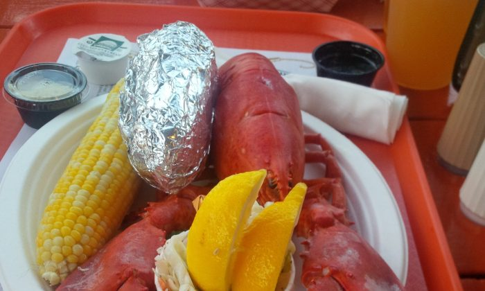 The quintessential Maine feast—steamed lobster from the Portland Lobster Company. (Chris Mallinos)