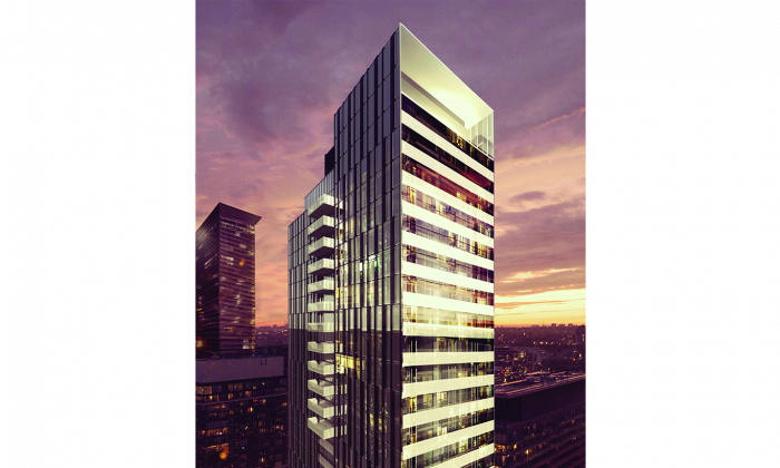 VOX Condos, a 35-storey glass tower at 28 Wellesley St. East, will be completed by 2017. (Cresford Developments)