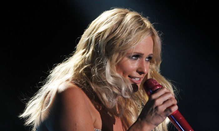 Miranda Lambert performs during the CMA Fest at LP Field on Friday, June 6, 2014, in Nashville, Tenn. (Photo by [Wade Payne/Invision/AP)