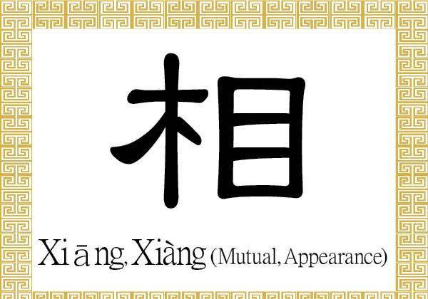 """The Chinese character 相 (xiāng) stands for appearance or countenance. As an adjective or adverb, it is used to describe the concept of """"each other,"""" or being mutual, reciprocal, or correlative.  (Epoch Times)"""