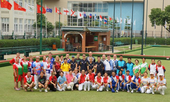 The CCC 120th Anniversary Hong Kong International Bowls Classic will commence with the singles competition this weekend (Nov. 8, 2014). Same as the previous event, top bowlers from 13 of the world's strongest bowling nation will participate in the annual event. The photo shows participants at the 2013 event. (Mike Worth)