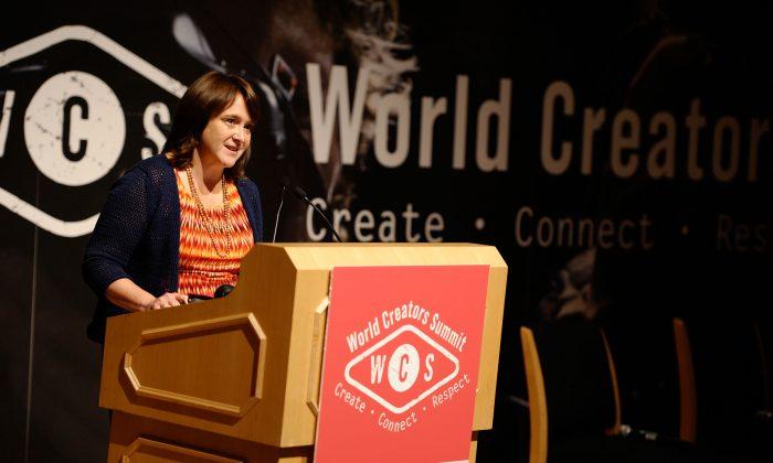 U.S. Register Of Copyrights Maria Pallante speaks at World Creators Summit in Washington, D.C., on June 4, 2013. (Ilya S. Savenok/Getty Images for BMI)