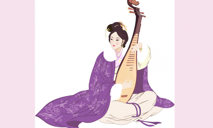"Wang Zhaojun, one of the famous Chinese ""Four Beauties,"" sacrificed life in her homeland to promote peace between the Han and the Xiongnu peoples. (Yu-Child/Epoch Times)"