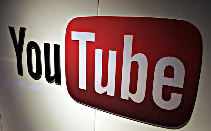 A picture shows a You Tube logo on December 4, 2012 during LeWeb Paris 2012 in Saint-Denis near Paris. (Eric Piermont/AFP/Getty Images)