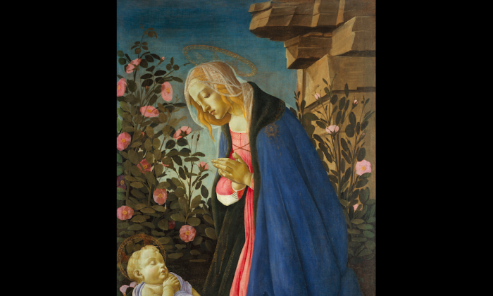"""The Virgin Adoring the Sleeping Christ Child,"" circa 1485, by Sandro Botticelli.  (Courtesy of the Frick Collection)"