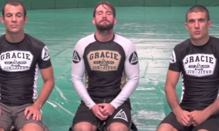 CM Punk (C) and Ryron and Rener Gracie. (YouTube/screenshot)