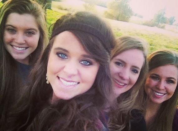 From L-R: Joy Duggar, Jinger Duggar, Mandie Query, and Jana Duggar on a recent walk. (Duggar Family Blog)