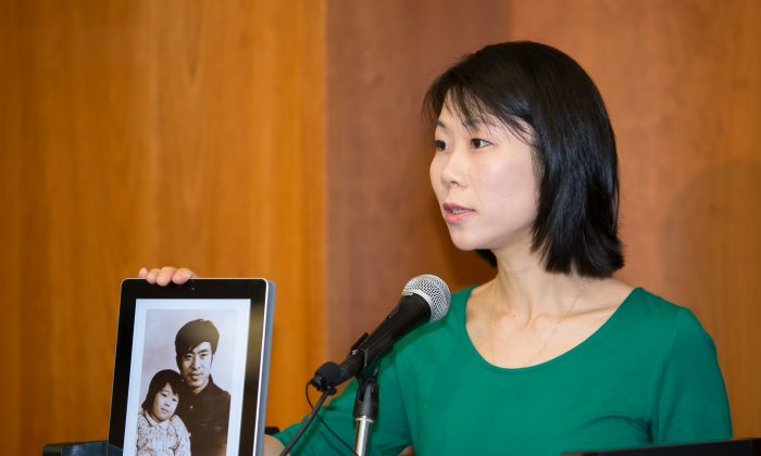 U.S. citizen Danielle Wang, daughter of Wang Zhiwen, a recently released prisoner of conscience in China, plans to invite her father to receive medical treatment in the United States. (Li Sha/Epoch Times)