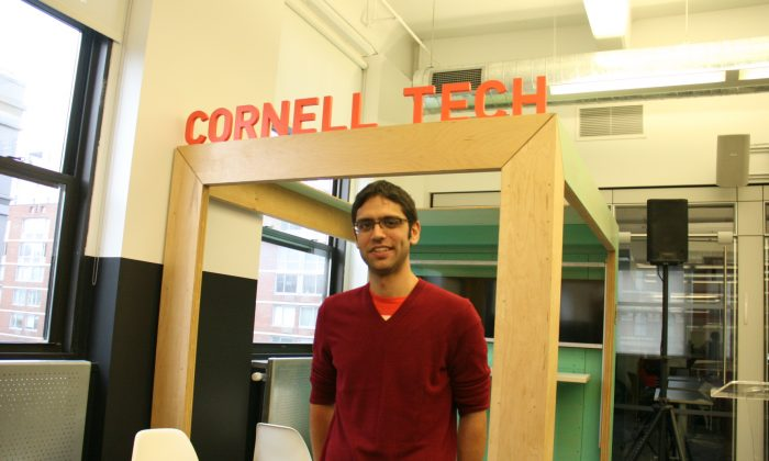 PhD candidate at Cornell Tech, Nir Grinberg, 31, after Cornell Tech and AOL announced their partnership, in Chelsea, on Nov. 12, 2014. (Shannon Liao/Epoch Times)
