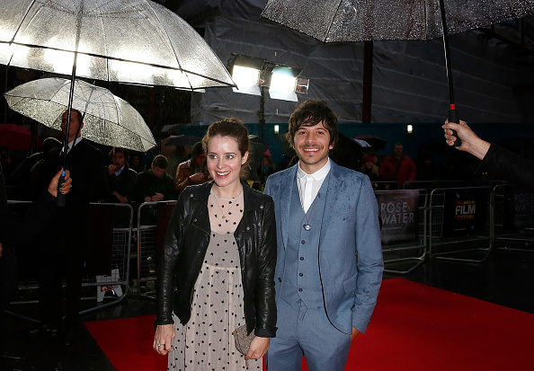 Claire Foy and Dimitri Leonidas attend the red carpet arrivals of 'Rosewater' during the 58th BFI London Film Festival at Odeon West End on October 12, 2014 in London, England. (Photo by Tim P. Whitby/Getty Images for BFI)