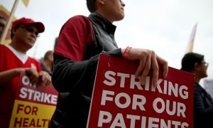 Registered Nurses on Strike, Demand Safety in Treating Ebola Patients