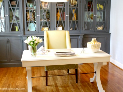 Stylish Home Office (Hometalker Laura Trevey @Bright, Bold & Beautiful)