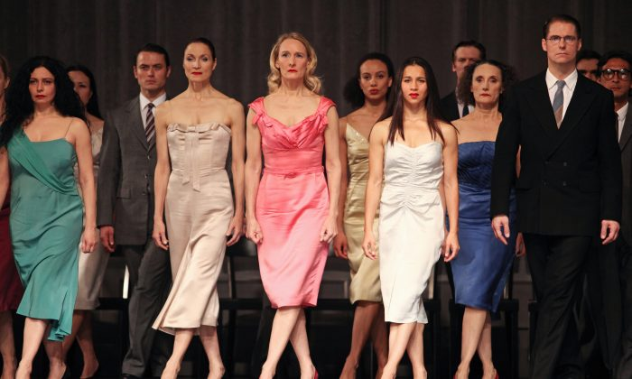 """The Tanztheater Wuppertal Pina Bausch dancers gave a masterful performance of their founder's 1978 work, """"Kontakthof,"""" at the Brooklyn Academy of Music."""