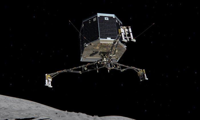 Jumping off a spacecraft. (ESA/ATG medialab)
