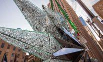 Swarovski Star Ascends Rockefeller Christmas Tree in NYC