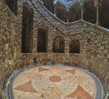 The bottom of the Initiation well at Quinta da Regaleira. (Wikimedia Commons)